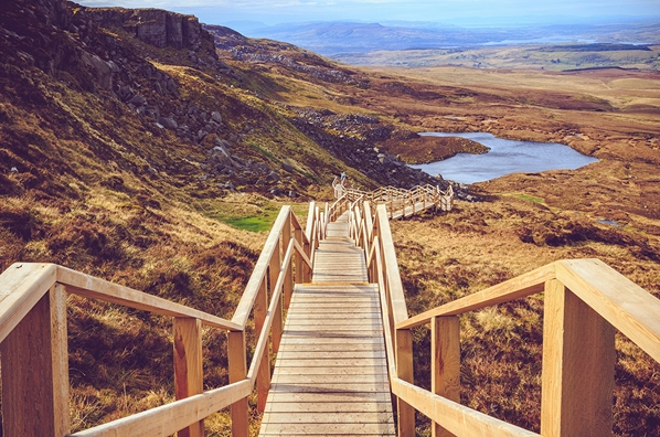 W8 Centre, explore Cuilcagh Legnabrocky trail – Stairway to Heaven, W8 Village holiday accommodation, Osta restaurant, culture and innovation - Manorhamilton, Ireland.