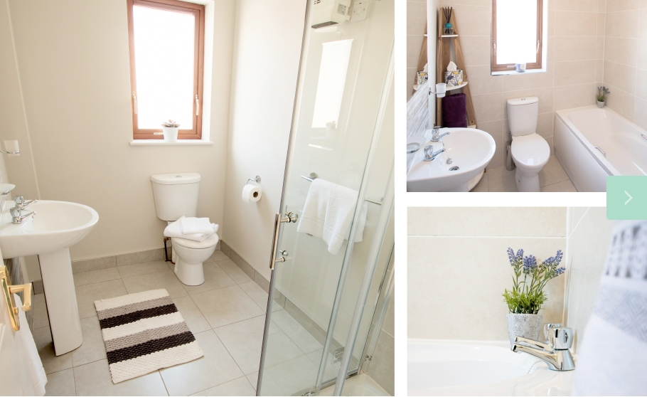 W8 Village Holiday Homes at W8 Centre, bathroom, shower room, toilets, Osta restaurant, culture and innovation - Manorhamilton, Ireland.